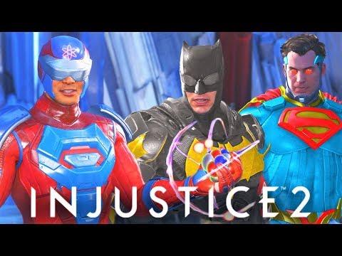 INJUSTICE 2 - ALL Atom vs Batman/Superman INTRO DIALOGUES!! FUNNY DIALOGUES!