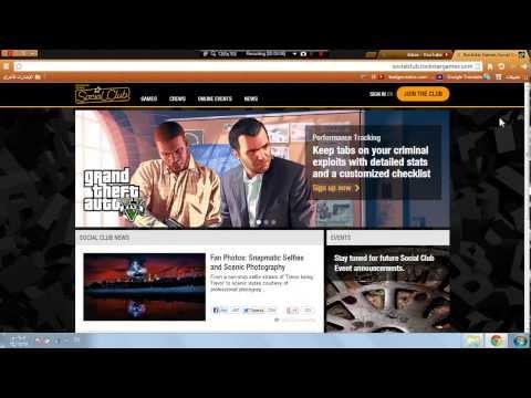 طريقة التسجيل في موقع روكستار - وشرح نظام الكلانات في GTA V !