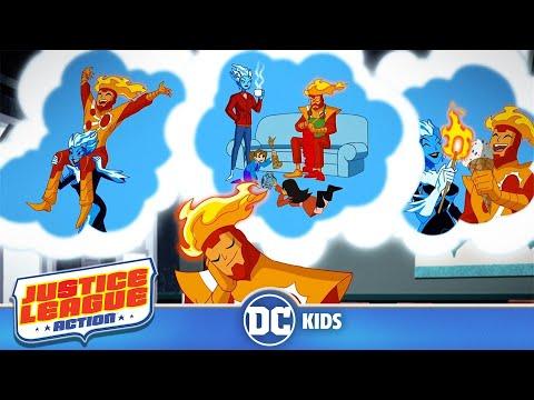 Justice League Action | Cool It, Hot Shot! | DC Kids