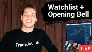 FCEL NVAX CSS Stock Watchlist + Day Trading LIVE ($25,000 Challenge)