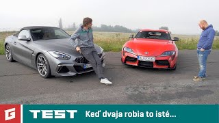 BMW Z4 Roadster M40i vs Toyota GR Supra - TEST - GARAZ.TV