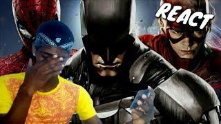 [REACT] Rap Triste do Homem-Aranha, Flash e Batman - MOMENTOS COM QUEM SE FOI | NERD HITS (7Minutoz)