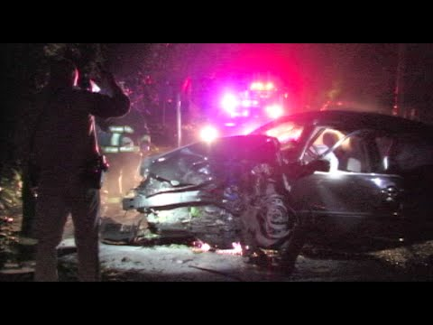 Drunk Driving Suspect Severely Injured During Crash - DUI News Footage