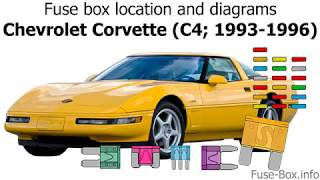 Fuse box location and diagrams: Chevrolet Corvette (C4; 1993-1996)