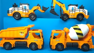 Just Kidz Construction Vehicles Might Machines Dump Truck Cement Truck Bulldozer Excavator Digger
