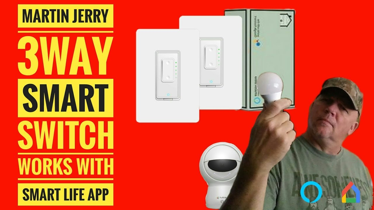 Martin Jerry WIFI 3 Way Dimmer Wall Switch and SmartLife APP Install Review
