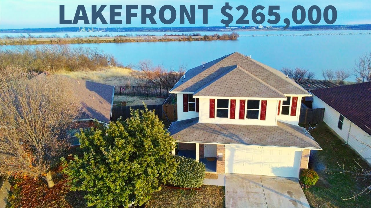 Cheapest Lakefront Home for Sale Near Dallas, Only $265K, No HOA, Great Rental or Airbnb Potential!
