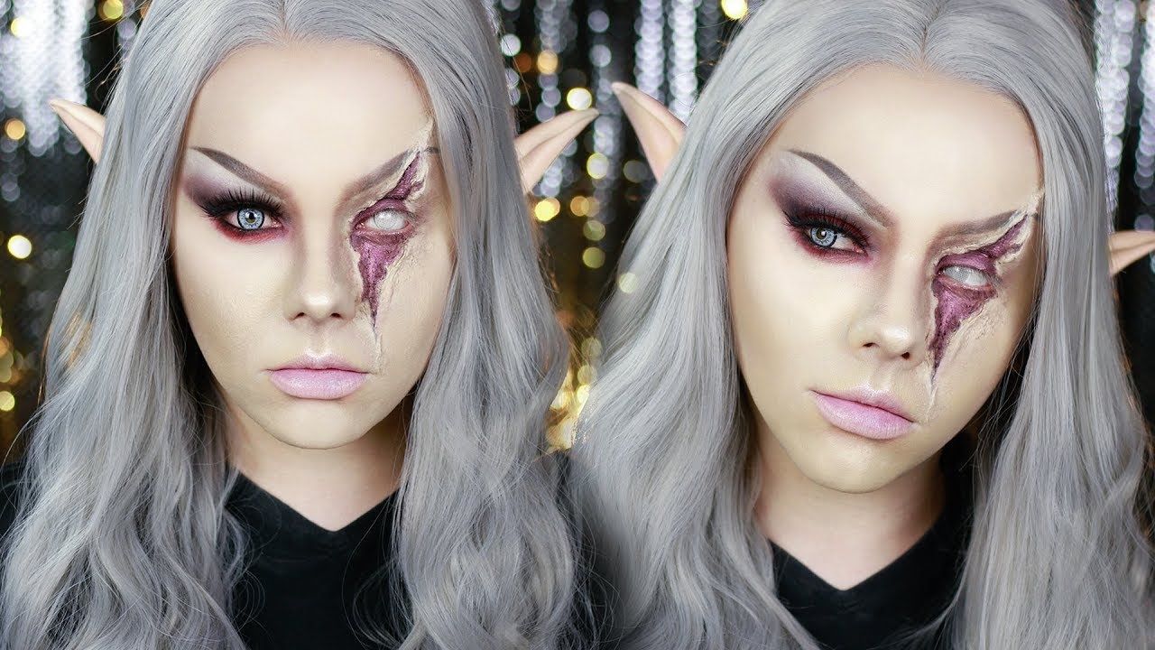 Blinded Blood Elf Halloween Makeup Tutorial | Electra Snow - YouTube