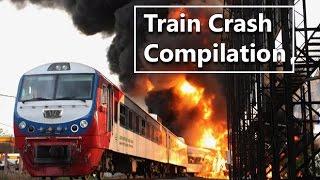 Подборка самых жестоких и жутких аварии и дтп поездов, железо в хлам Train crash compilation