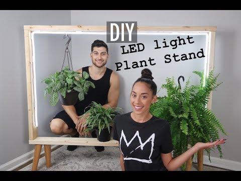 DIY LED LIGHT PLANT STAND *SUPER EASY*