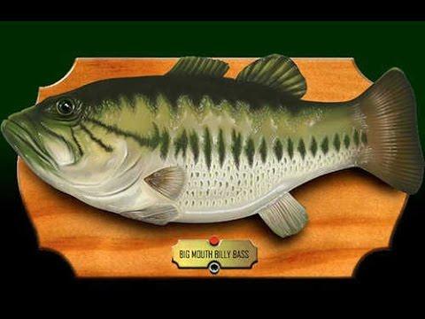 The future man hacks alexa into singing fish robot m for Big mouth fish