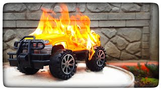 EXPERIMENT - TOY CAR vs GAS BURNER