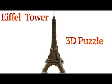 DIY Miniature Eiffel Tower ~ 3D Puzzle Mini Architecture