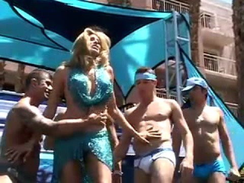 Candis Cayne  White Party Pool Party 2008