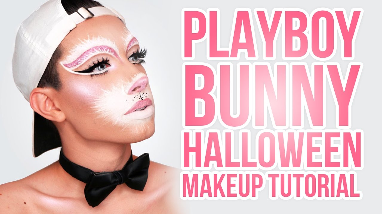 PLAYBOY BUNNY HALLOWEEN MAKEUP TUTORIAL - YouTube