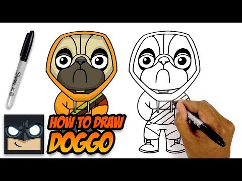 How To Draw Fortnite | Doggo | Step By Step