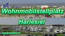 mit dem Wohnmobil unterwegs I Harlesiel Wohnmobilstellplatz an der Mole I Hafen Nordsee Ostfriesland