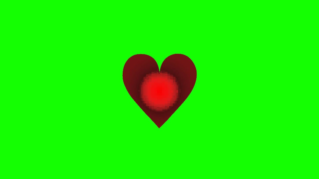 Beating Heart Green Screen Animation Youtube