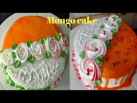 Easy and simple decoration of Mango cake ll Mango cake ll ...