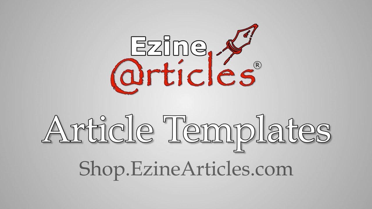 how to make an ezine template