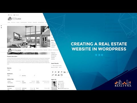 Creating a real estate website in WordPress