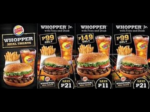 Burger King In Philippines And US