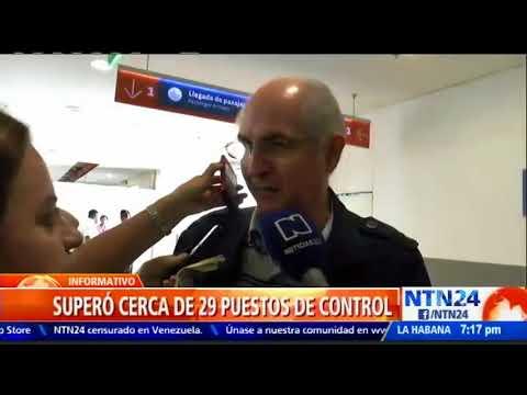 Así fue la salida de Antonio Ledezma de Venezuela