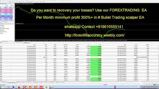 FOREX EA Per Month minimum profit 300%+ in Bullet Trading scalper EA whatsapp Contect +918610555141