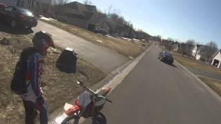 Old guy yells at dirtbike riders
