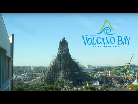 Volcano Bay Water Theme Park Construction Update with Water testing!! (2/18/2017 Universal Orlando)