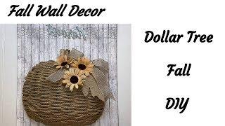 DOLLAR TREE FALL PUMPKIN WALL DECOR 2019