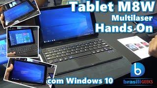 Tablet M8W Multilaser - Com Teclado e Windows 10! Eletrolar 2016