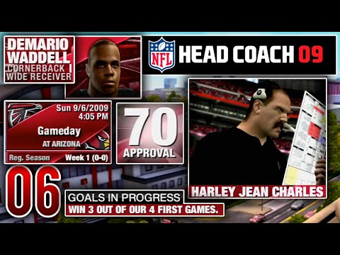 Coaching Our First Game With The Falcons - NFL Head Coach 09 Career Mode   Ep.6