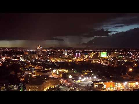 TBT: Beautiful monsoon storm over downtown Albuquerque