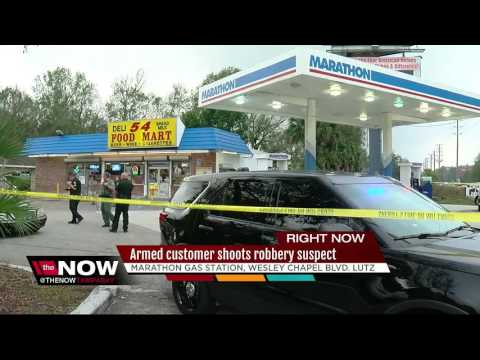 Deputies: Convenience store robbery suspect shot by customer with concealed weapon permit