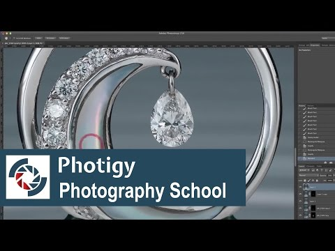 Jewelry photography retouching quick preview: post-production in Photoshop