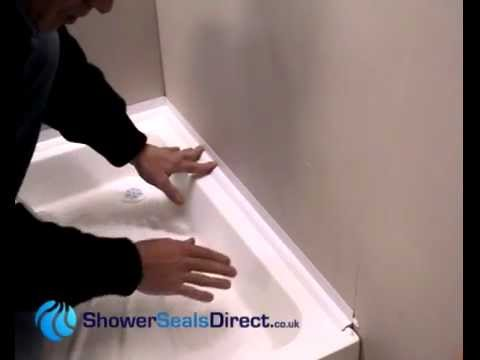 how to seal your shower tray or bath with a sealux 15 shower seal