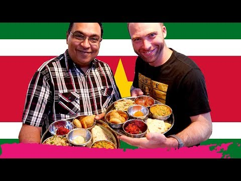 Mind-Blowing INDIAN THALI in SURINAME at Martin House of Indian Food | Paramaribo, Suriname
