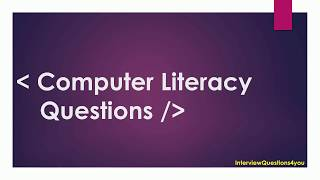 computer literacy test questions and answers