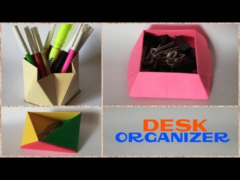 3 easy DIY desk organizer ideas