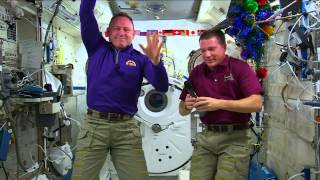 International Space Station Crew Members Discuss Living in Space During the Holidays with the Media