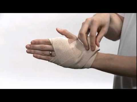 How To Wrap A Wrist With Ace Brand Elastic Bandages Youtube