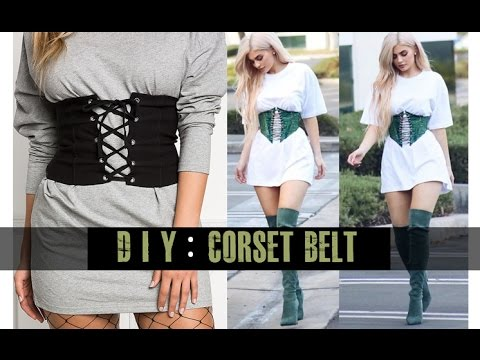 Diy Corset Belt Easy Youtube