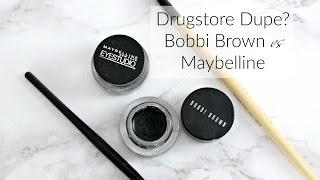 Drugstore Dupe? | Bobbi Brown Long Wear Gel Eye Liner vs Maybelline Eye Studio