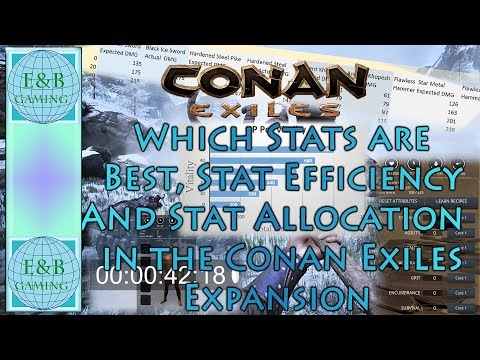 Conan Exiles - UPDATED FOR EXPAC - Best Stats, Stat Efficiency, Stat Allocation - Graphs and Math