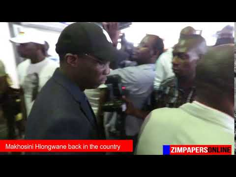 Makhosini Hlongwane back in the country . . .spotted at RG Mugabe Int Airport