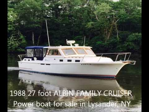 1988 27 foot ALBIN FAMILY CRUISER Power boat for sale in Lysander, NY. $25,000.