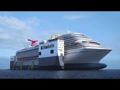 Watch Carnival Vista In Floating Drydock