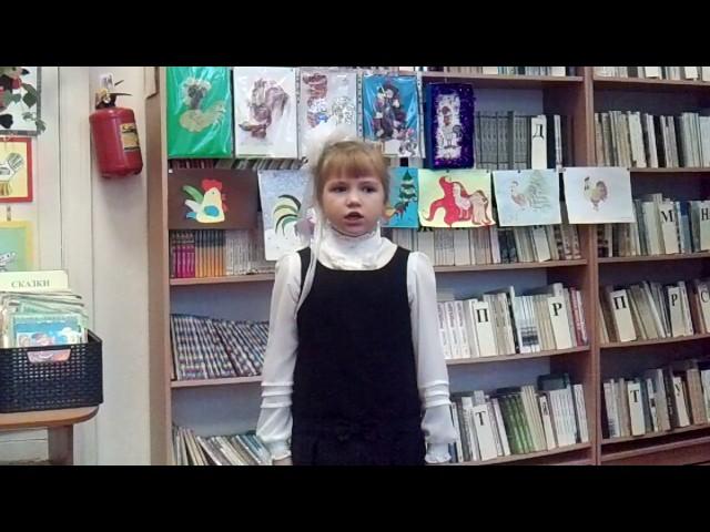 Изображение предпросмотра прочтения – ДианаГлухова читает произведение «В школу» А.Л.Барто