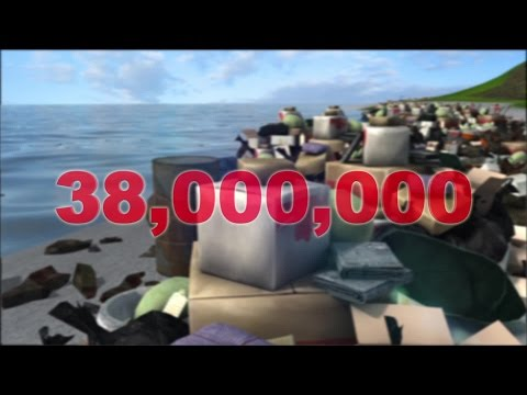 Remote Pacific island with no population is covered in trash